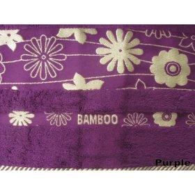 Полотенце Arya Бамбук Papatya Cizgili 50х90 фиолетовое