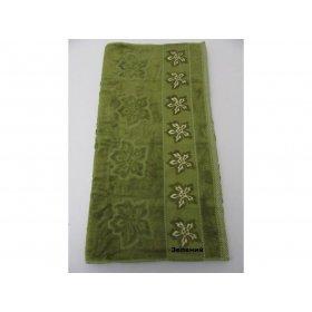 Полотенце Arya Бамбук Yildiz Cicegi 50х90 зеленое