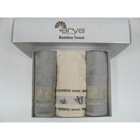 Комплект из трех полотенец Arya Bonita Ассорти