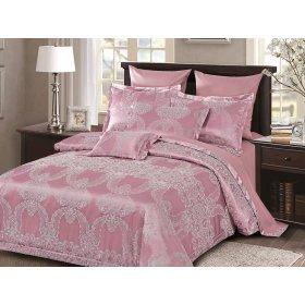 Двуспальное жаккардовое постельное белье Arya Ricco лиловое 200х220