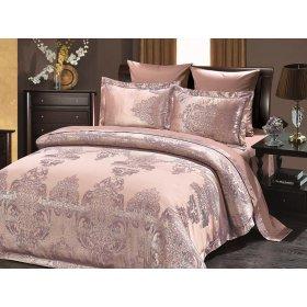 Двуспальное жаккардовое постельное белье Arya Savino лиловое 200х220