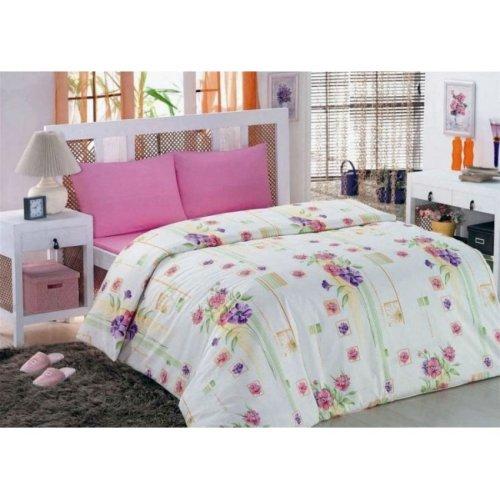 Полуторное постельное белье Classi Eva Buket 145х210