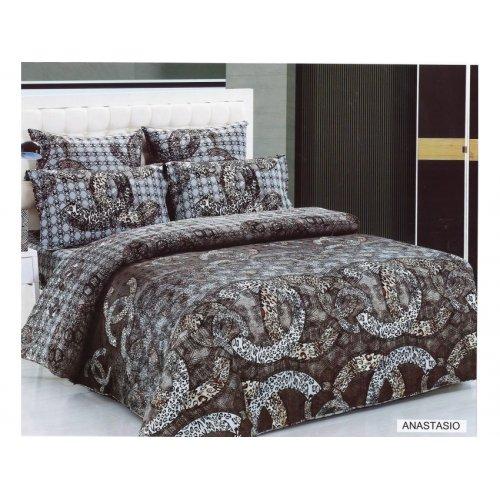 Двуспальное постельное белье Arya Fashion Anastasio печатное 200х220