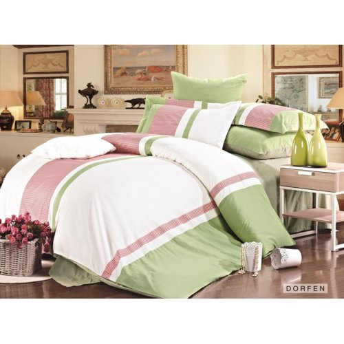 Двуспальное постельное белье Arya Jouful Line Dorfen 200х220