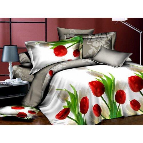 Двуспальное постельное белье Arya Classi Tessin печатное 200х220
