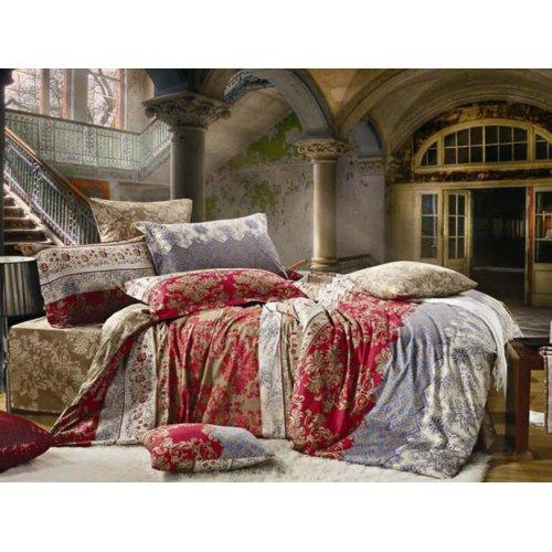 Двуспальное постельное белье Arya Classi Shelby печатное 200х220