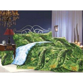 Двуспальное постельное белье Arya Classi Pickens печатное 200х220