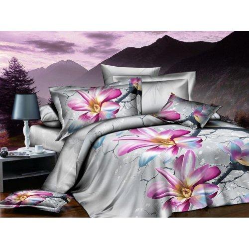 Двуспальное постельное белье Arya Classi Langen печатное 200х220