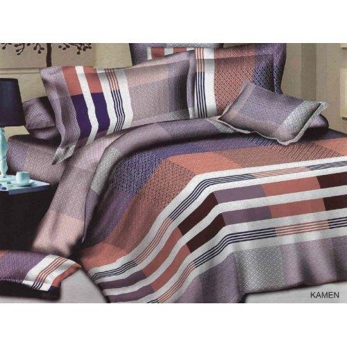 Двуспальное постельное белье Arya Classi Kamen печатное 200х220