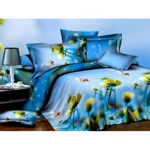 Двуспальное постельное белье Arya Classi Abaco печатное 200х220