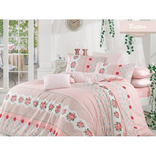Двуспальный комплект постельного белья Arya Button 200х220