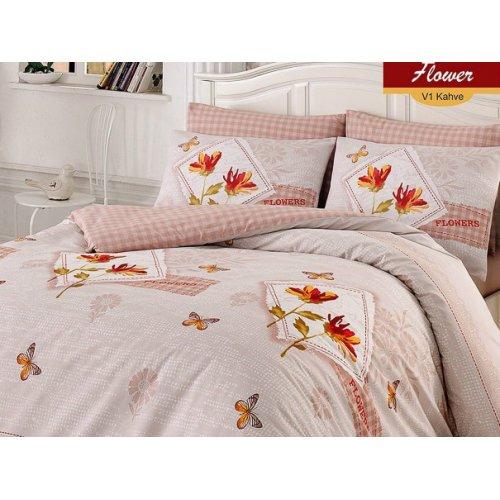 Полуторный комплект постельного белья Arya Flower 160х220