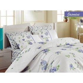 Двуспальный комплект постельного белья Arya Jasmine голубой 200х220