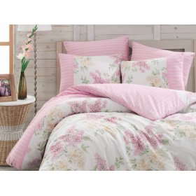 Двуспальный комплект постельного белья Arya Alacati розовый 200х220