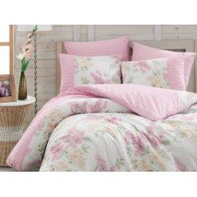 Полуторный комплект постельного белья Arya Alacati розовый 160х220