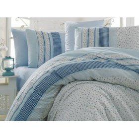 Полуторный комплект постельного белья Arya Defne голубой 160х220