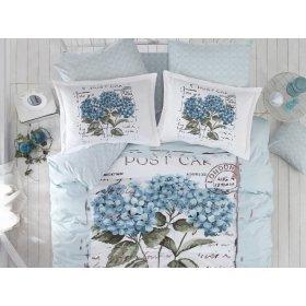 Полуторный комплект постельного белья Arya Dior голубой 160х220