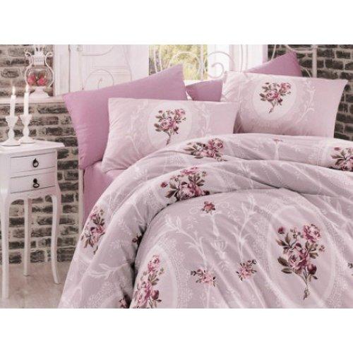 Двуспальный комплект постельного белья Arya Majesty лиловый 200х220