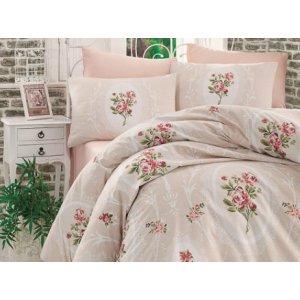 Полуторный комплект постельного белья Arya Majesty кремовый 160х220