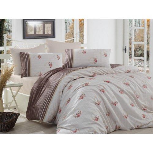 Полуторный комплект постельного белья Arya Miranda коричневый 160х220
