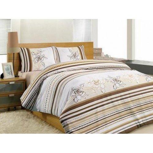 Полуторный комплект постельного белья Altinbasak Line Flower 160х220