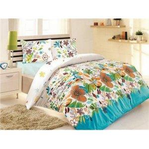 Полуторный комплект постельного белья Altinbasak Rengarenk 160х220