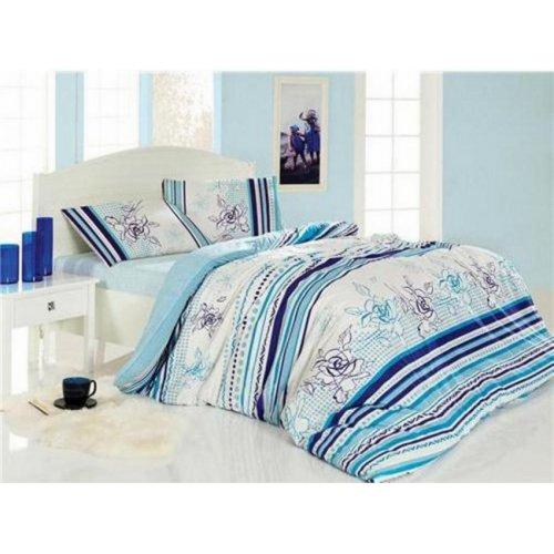 Двуспальный комплект постельного белья Altinbasak Line Flower 200х220
