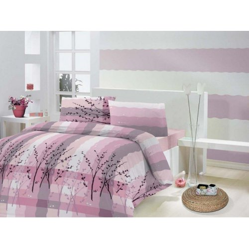Семейный комплект постельного белья Altinbasak Anabella 160х220