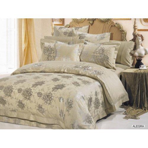 Двуспальный комплект постельного белья Arya Alegra 200х220 с вышивкой