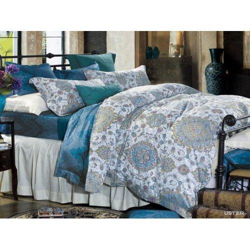 Полуторное постельное белье Arya Uster печатное 160х220