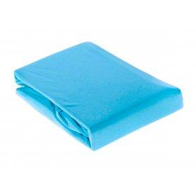 Голубая трикотажная простынь на резинке Arya 200х220