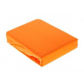 Оранжевая трикотажная простынь на резинке Arya 200х220