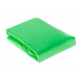 Зеленая трикотажная простынь на резинке Arya 200х220