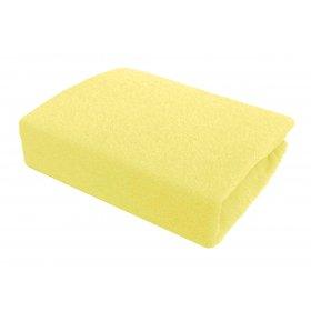Желтая махровая простынь Arya 200х220