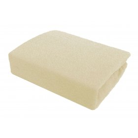 Кремовая махровая простынь Arya 200х220