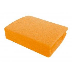Оранжевая махровая простынь Arya 200х220