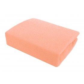 Розовая махровая простынь Arya 200х220