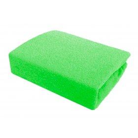 Зеленая махровая простынь Arya 200х220