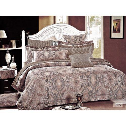 Двуспальное постельное белье Arya Ines печатное 200х220