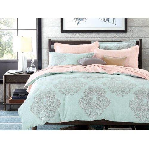 Двуспальное постельное белье Arya Jemma печатное 200х220