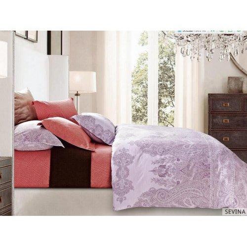 Двуспальное постельное белье Arya Sevina печатное 200х220