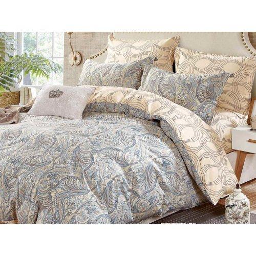 Двуспальное постельное белье печатное Arya Adella 200х220