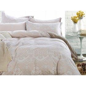Полуторное постельное белье печатное Arya Fontana 160х220