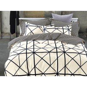 Двуспальное постельное белье печатное Arya Magenta 200х220