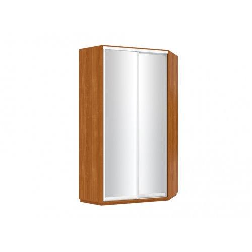 Угловой шкаф-купе 120х120х240 2 двери зеркальные