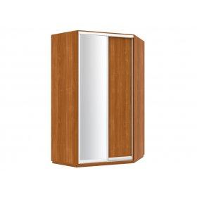 Угловой шкаф-купе 135х240х135 см 1 дверь ДСП + зеркало