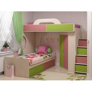 Ліжко-горище Dori pink