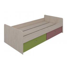 Кровать нижняя с выдвижными ящиками 90х200 Dori pink