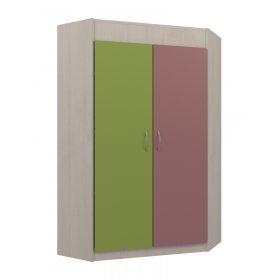 Шкаф угловой 78х140х78 Dori pink