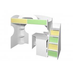 Кровать-чердак со столом Колорит 2